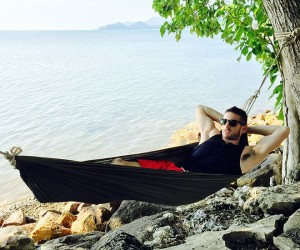 Henry in his magic hammock